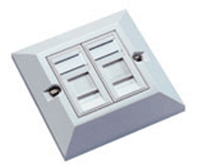 Excel 2x RJ45 Cat6 modules in Single Gang Face Plate