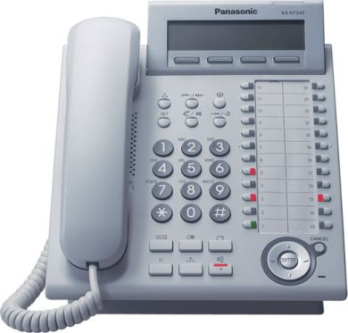 Panasonic KX-DT343 24 Key Digital Display Handset in White