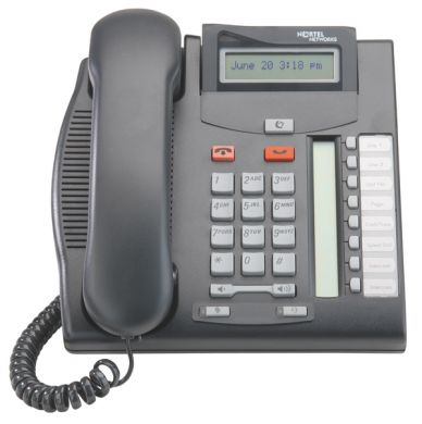 Nortel T7208 Telephone in Charcoal Black