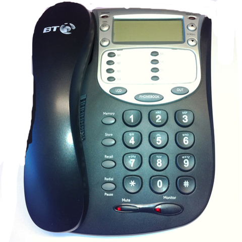 BT Versatility Handset - V Style Mk.2 in Black - Fully Refurbished