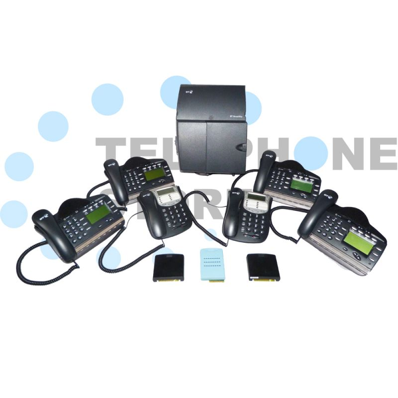 BT Versatility Analogue Phone System for 2 x PSTN Lines and 6 x Handsets