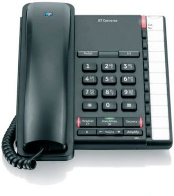 BT Converse 2200 Corded Telephone in Black