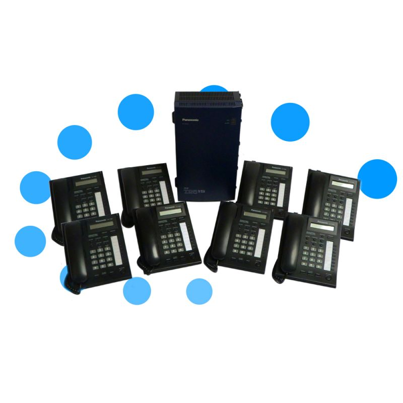 Panasonic KX-TDA15 ISDN 2e Telephone System with 8 Digital Handsets