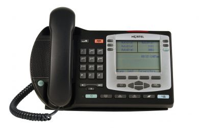 Nortel i2004 Silver Bezel IP Phone NTDU92