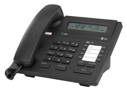 LG LDP-7008D Telephone Handset in Black with LCD Display