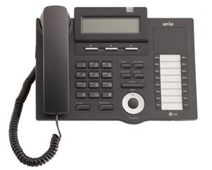 LG LDP-7016D Telephone Handset in Black with LCD Display