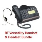 BT Versatility V8 Handset and Versatility Headset Bundle