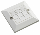 Excel 3x RJ45 Cat5e modules in Single Gang Face Plate